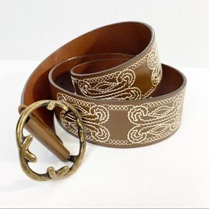 Coldwater Creek Brown Leather Belt Size S